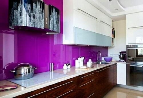 kinh cuong luc op bep mau tim - Kính màu ốp bếp tại Hà Nội chất lượng, giá cả hợp lý