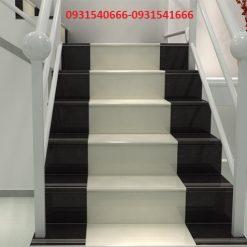 en trắng trai tham 1 247x247 - Đá cầu thang mặt đen cổ trắng trãi thảm