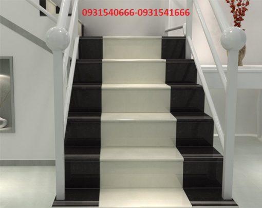 en trắng trai tham 1 510x405 - Đá cầu thang mặt đen cổ trắng trãi thảm