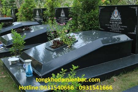 mo da hoa cuong 4 1 - Mộ Đá Granite Đen Ấn Độ