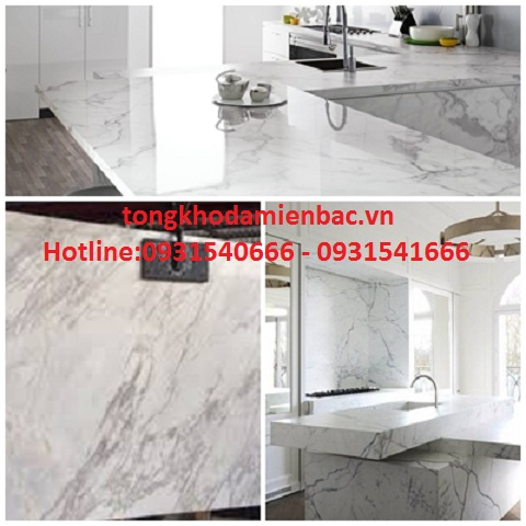da marble op bep 2 - Mẫu đá trắng ý cao cấp ốp thang máy