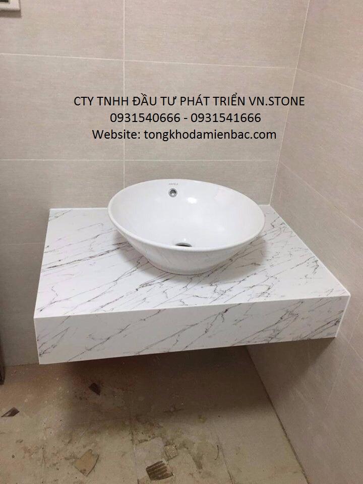 lavabo bang da 3 - Lắp đặt lavabo bằng đá cho không gian hiện đại