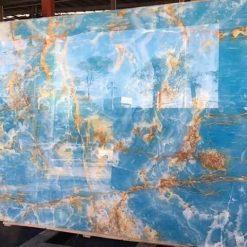 blue onyx tam slab 247x247 - Đá Onyx (xuyên sáng) 2