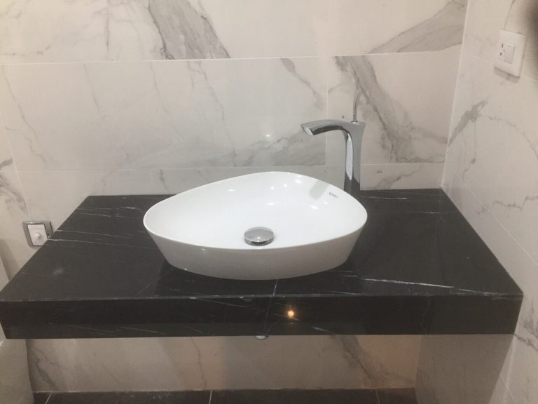 lavabor marble den tia chop1 - Lavabor Marble đen tia chớp