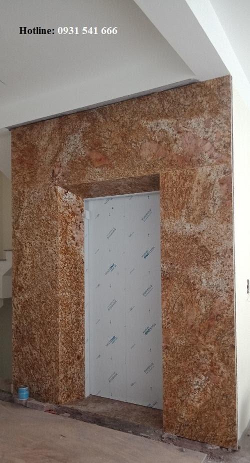 da op thang may granite vang hoang gia nhap khau - Đá ốp thang máy granite vàng hoàng gia nhập khẩu Ấn Độ